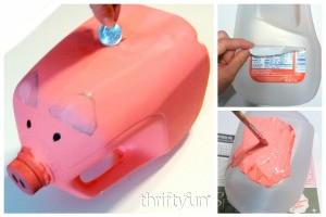 Making a Gallon Milk Jug Piggy Bank