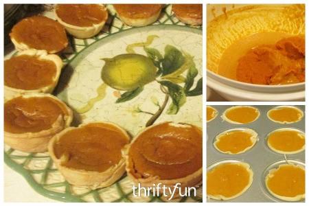 Making Miniature Pumpkin Pies
