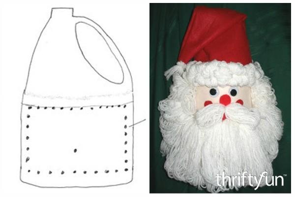 Making A Bleach Bottle Santa Thriftyfun