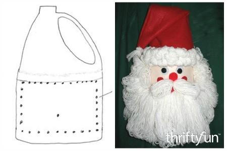 Making a Bleach Bottle Santa