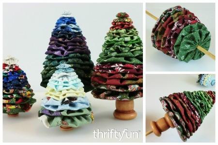 Making Yo Yo Christmas Trees