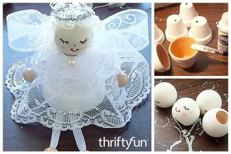 Making Clay Pot Angels