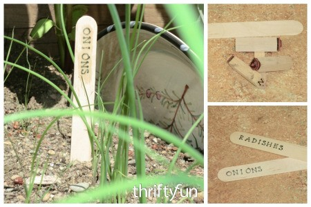 Making Popsicle Stick Plant Markers
