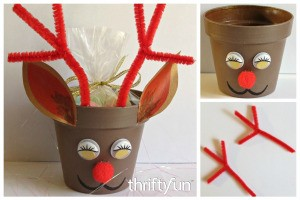 Making a Red Nosed Reindeer Candy Holder