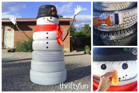Making a Tire Snowman