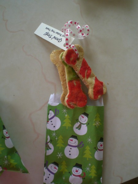 Peanut Butter Dog Cookies as Gifts