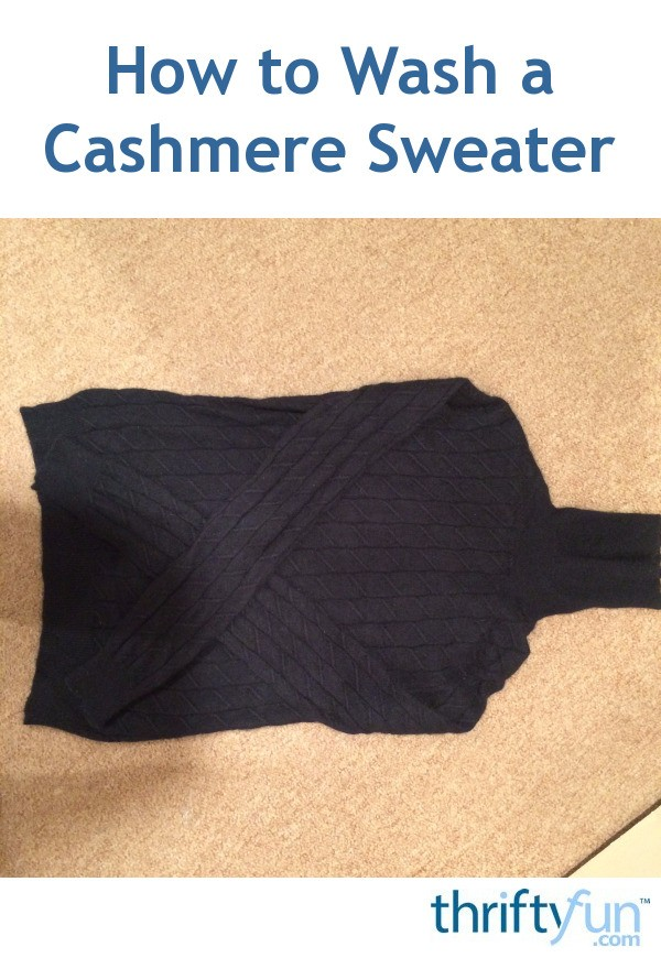 How to Wash a Cashmere Sweater