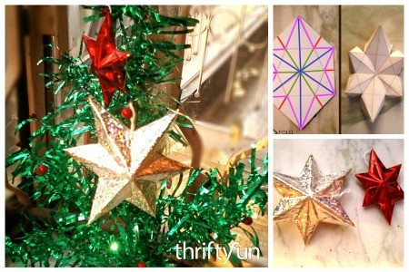 Making 3D Paper Star Christmas Ornaments