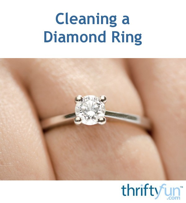 Cleaning Rings: Cleaning A Diamond Ring