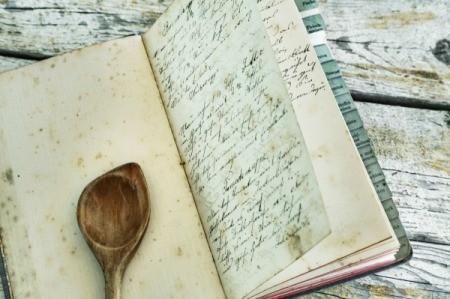 A handwritten recipe in a bound cookbook.