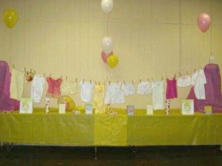 Baby Shower Clothesline