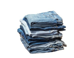 A stack of nicely folded jeans.