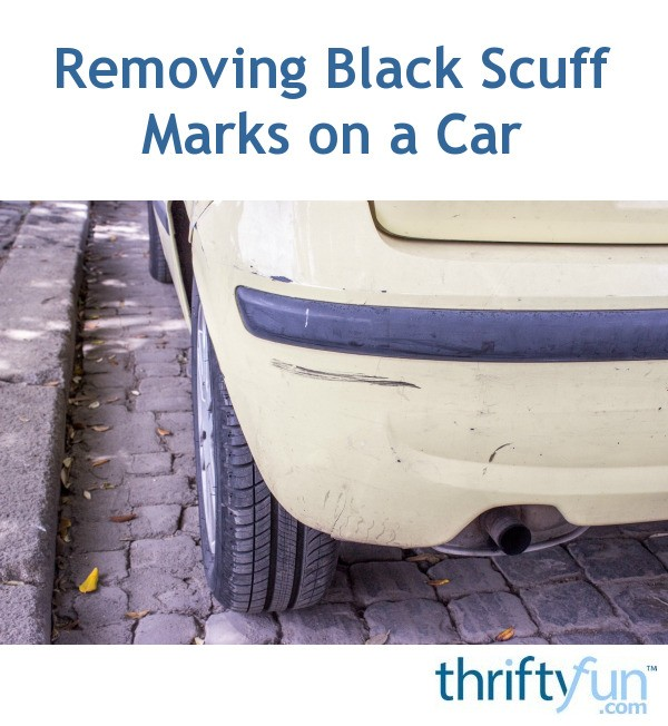 removing black scuff marks on a car thriftyfun. Black Bedroom Furniture Sets. Home Design Ideas