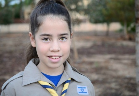 A photo of a girl scout.