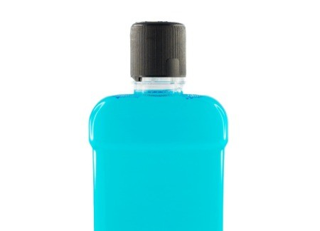 Bottle of mouthwash.