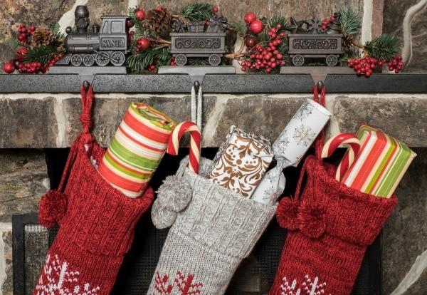 stockings hung on a fireplace mantle - Christmas Stockings Walmart