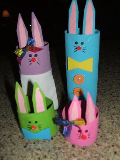 Recycled Cardboard Tube Bunnies