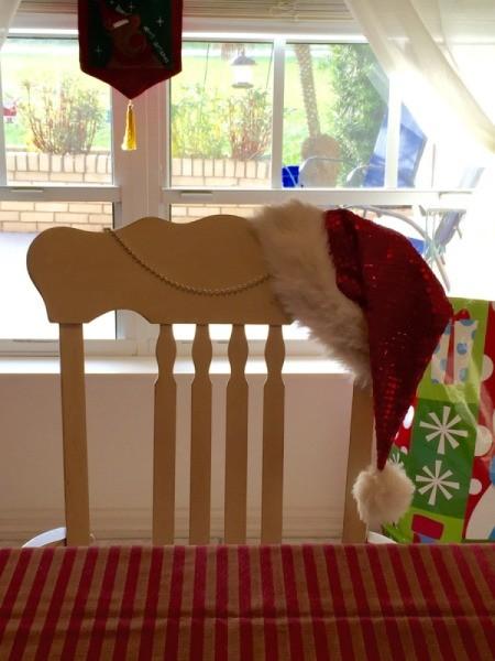 Santa Hat Chair Decoration