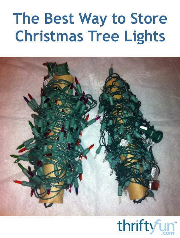 The Best Way to Store Christmas Tree Lights | ThriftyFun