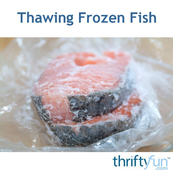 thawing frozen fish thriftyfun. Black Bedroom Furniture Sets. Home Design Ideas