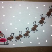 sleigh with snowflakes