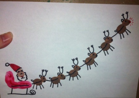 project after the addition of the details such as Santa's hat and reindeer antlers and legs