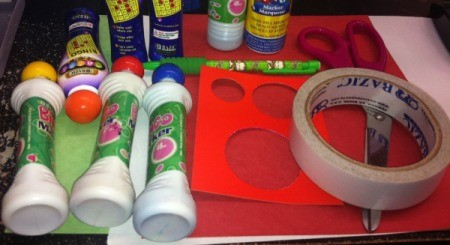 supplies for candy cane crafts