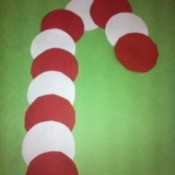 completed paper circle candy cane