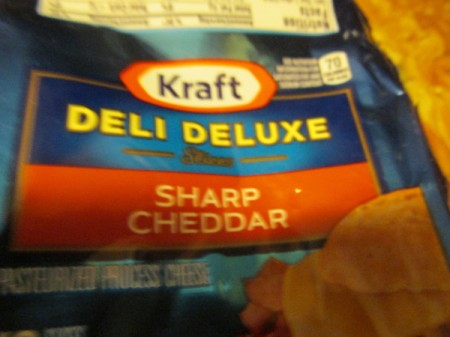 cheddar cheese slice package