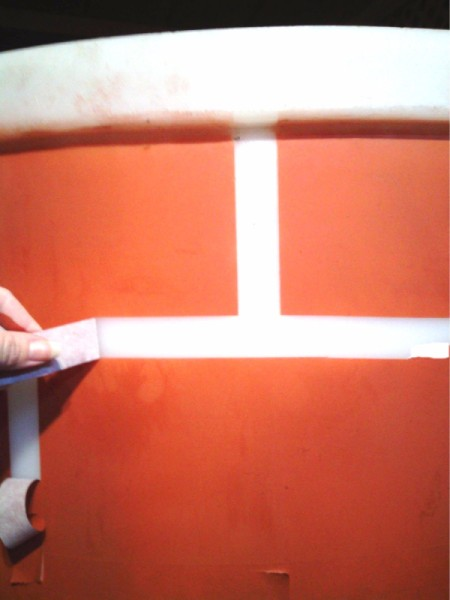 removing horizontal tape
