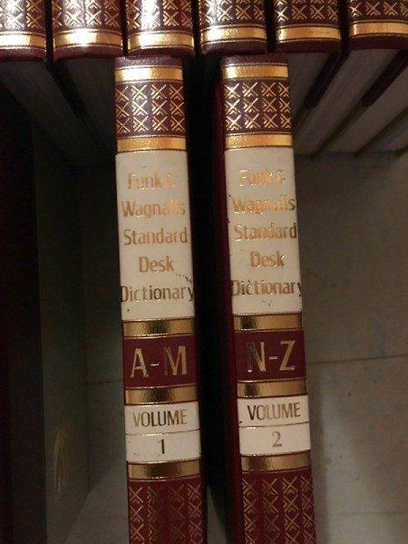 closeup of two volumes of the encyclopedias