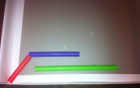 Easy Marble Maze - initial straw placement for larger maze