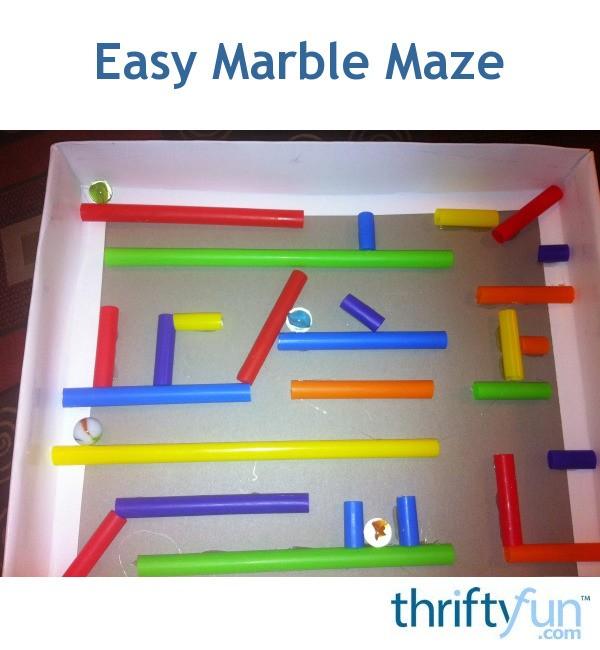 Easy Marble Maze Thriftyfun