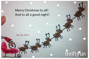 Fingerprint Santa's Sleigh