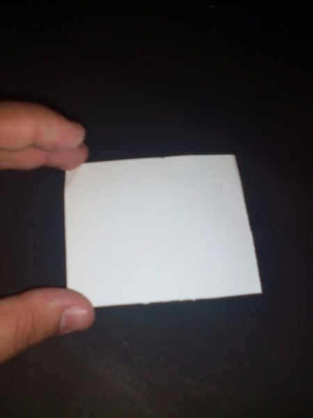 square of white paper