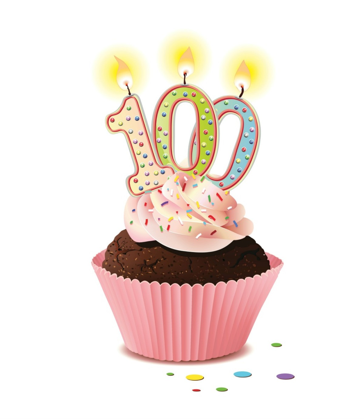 A Cupcake For 100th Birthday