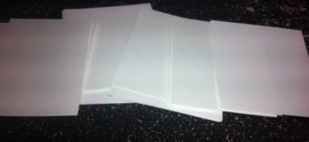Christmas Sticker Memory Game  - white index cards