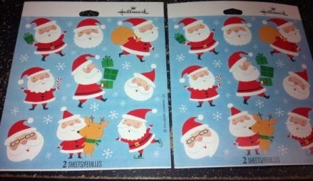Christmas Sticker Memory Game - Christmas stickers of Santa