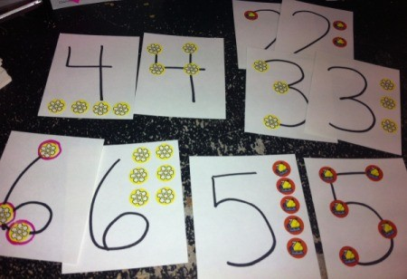 Christmas Sticker Memory Game - game set up to utilize TouchPoint math principles.