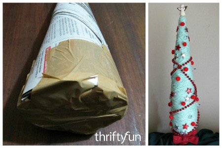 Newspaper Cone Christmas Tree