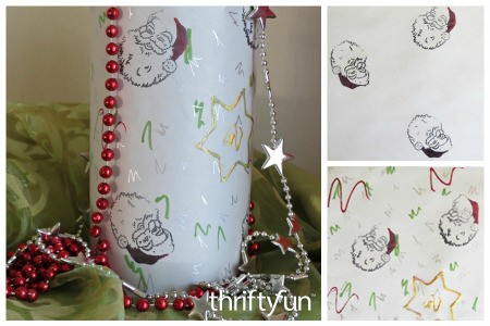 Santa Gift Wrap Using Newsprint