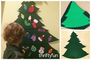 Making a Felt Christmas Tree