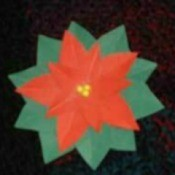 Making Poinsettia Magnets