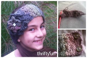 Making a Crocheted Winter Headband
