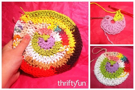 Making a Round Hillbilly Dishcloth