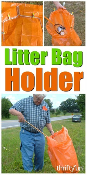 Making A Litter Bag Holder Thriftyfun