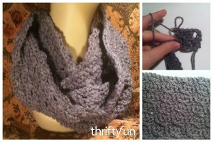 Making a Crossed Swords Crochet Cowl