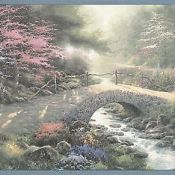 Thomas Kinked Wallpaper. Water going under a bridge.