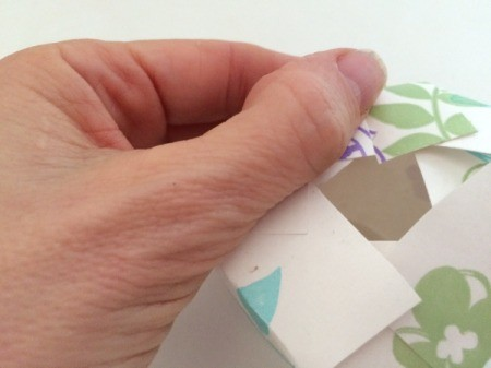 Paper Cup Gift Box - folding the slits down to create the box