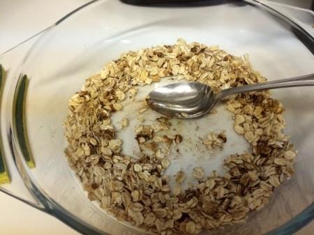 apple cinnamon oatmeal in bowl